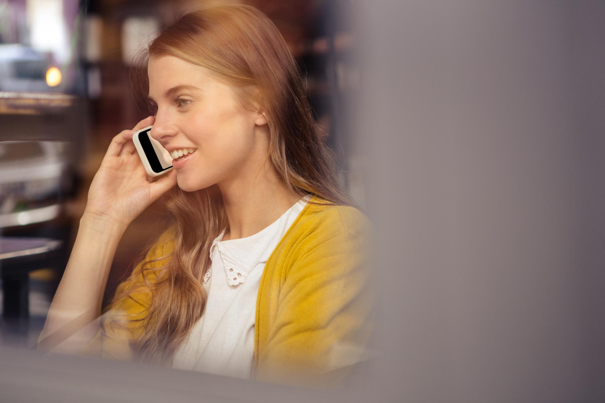 This is a pictue of a lady having a phone call.