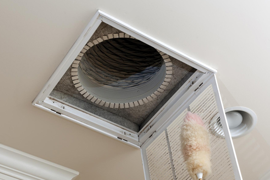 This is a picture of an air conditioner cleaning service.