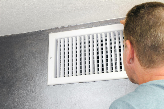 This is a picture of an air duct cleaning.